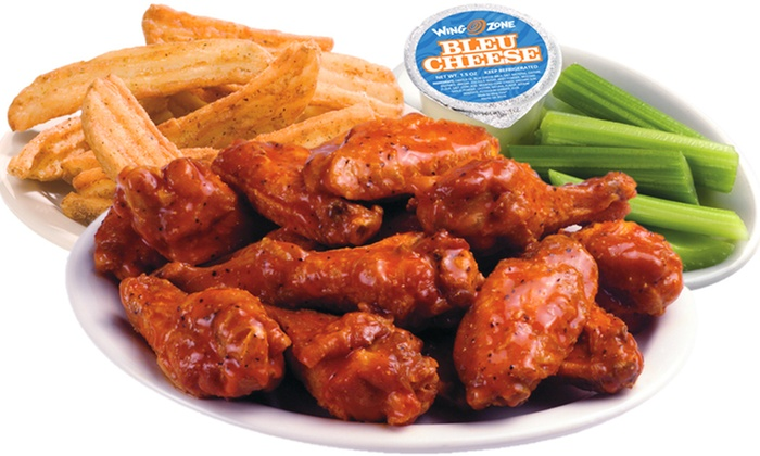 Wing Zone - Multiple Locations: Wings, Shrimp, and Burgers for Dine-in or Carryout at Wing Zone (Up to 40% Off)