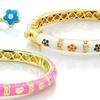 18K Yellow-Gold Plated Kids' Bangle Bracelets