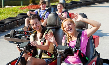 Two or Four Three-Attraction Family-Fun-Park Passes and Sodas at Adventure Landing (57% Off)