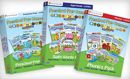 4-DVD Preschool Prep Pack (a $50 value) - Preschool Prep Educational DVDs in