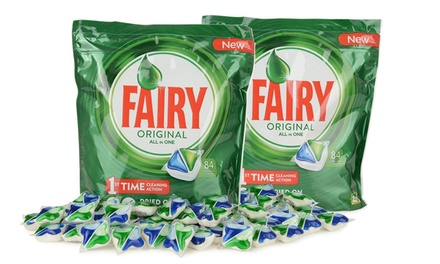 84, 252 or 504 Fairy AllinOne Regular Dishwasher Tablets