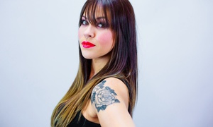Brittany Thomas At The Girlleria: Haircut and Style with Optional Partial or Full Highlights from Brittany Thomas at the Girlleria (Up to 54% Off)