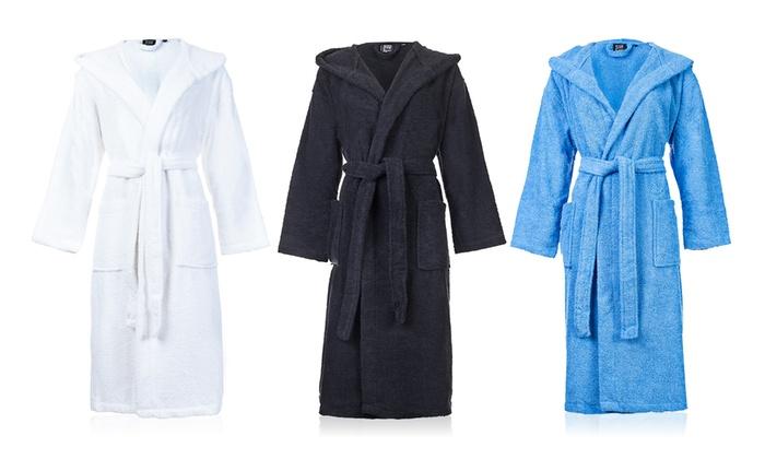 casa di bassi hooded bath robe groupon. Black Bedroom Furniture Sets. Home Design Ideas