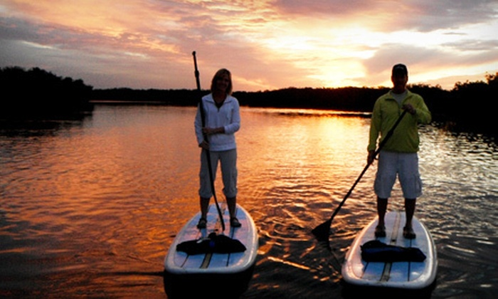 New Smyrna Stand Up - Daytona Beach: Daytime Standup-Paddleboard Tour or Sunset Tour with Picnic for Two or Four from New Smyrna Stand Up (Up to 54% Off)
