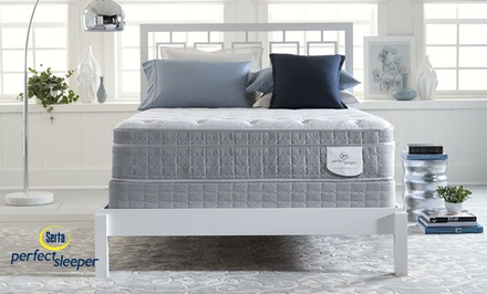 Hot Buy: Serta Perfect Sleeper Eurotop Mattress Set & a Free Serta Sheep. Free White Glove Delivery. 20-Year Warranty.