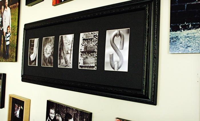 Frame The Alphabet Custom Framed Letter Art: $40 for $100 Worth of Custom Framed Letter Art from Frame The Alphabet