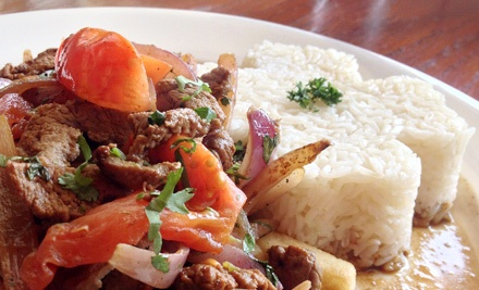 Peruvian Cuisine and Drinks at Ají Peruvian Restaurant (Up to 53% Off). Two Options Available.