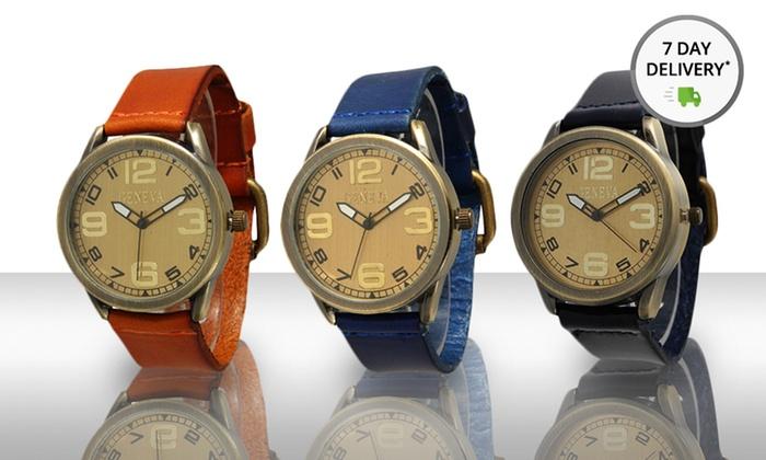 Men's Vintage Leather Watch: Men's Vintage Leather Watch. Multiple Colors Available. Free Returns.