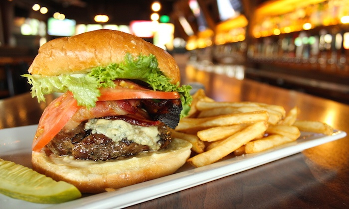 The Lodge Sports Grille - Multiple Locations: American Grill Food at The Lodge Sports Grille (Up to 40% Off)