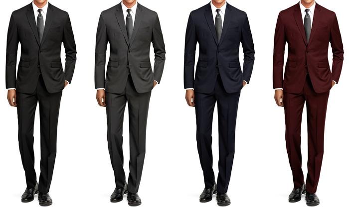 Braveman Slim-Fit 2-Piece Suits | Groupon Goods