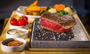Restauracja 3 Kolory: Grill stone: mięsny, z krewetkami lub łososiem dla 2 osób za 75 zł i więcej w Restauracji 3 Kolory nad Jez. Maltańskim