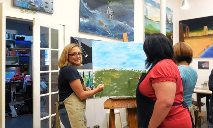 Art School # 99 - North Allston: Child-and-Adult Art Workshops, Painting Class for Two, or Three Art Classes for One at Art School # 99 (Up to 75% Off)