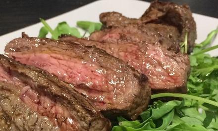Menu con tagliata di manzo e vino a 24,90€euro