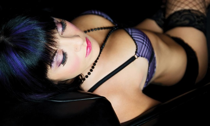Miss Behave Boudoir Photography - Miss Behave Boudoir Photography: Boudoir Photo-Shoot Package w/ Optional Leather Photo Trifold at Miss Behave Boudoir Photography (Up to 54% Off)