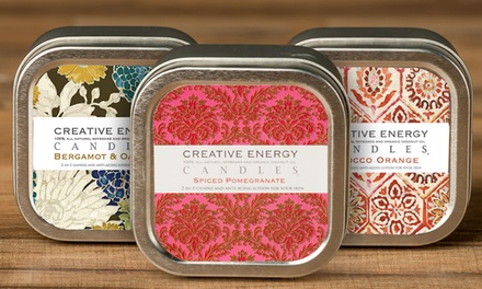 Creative Energy 2-in-1 Hand-Poured Soy Lotion Candles