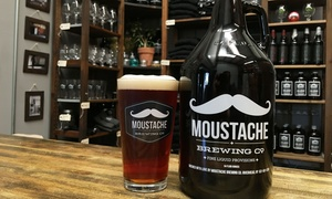 Moustache Brewing Co.: Beer Tasting Package for Two or Four at Moustache Brewing Co. (Up to 39% Off)