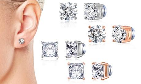 1, 2 o 3 pares de aretes magnéticos de Philip Jones hechos con cristales de Swarovski®