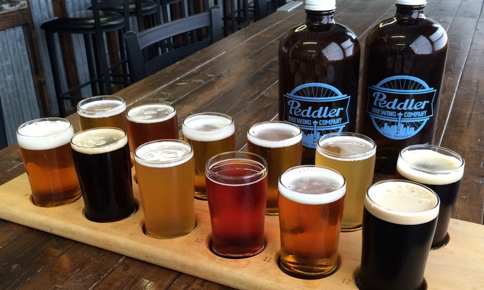 Peddler Brewing Company - Ballard: $26 for a Beer-Tasting Flight for Two with Take-Home  Half Growlers at Peddler Brewing Company ($44 Value)
