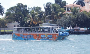 Fort Lauderdale/Miami  Duck Tours: Amphibious Tour for One or Two with One Framed Photo at Duck Tours South Beach(Up to 57% Off)