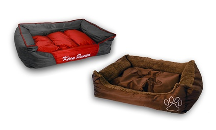 Plush or Waterproof Pet Bed: Large or Extra Large