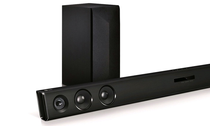 f77a5a7c77f LG 2.1-Channel Sound Bar with Wireless Active Subwoofer