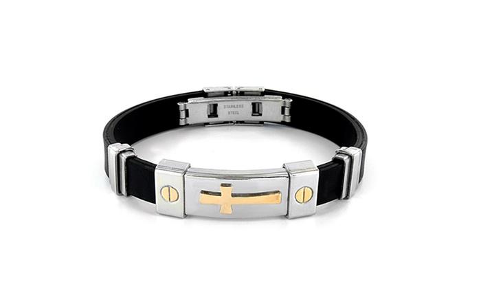 Stainless Steel Cross Bracelet: Stainless Steel Cross Bracelet. Free Shipping and Returns.