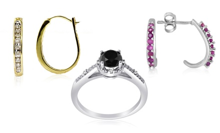 Diamond Rings and Earrings. Multiple Styles Available from $26.99-$99.99.