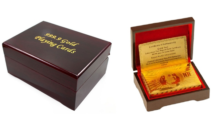 24K Gold-Plated Playing Cards: 24K Gold-Plated Playing Cards