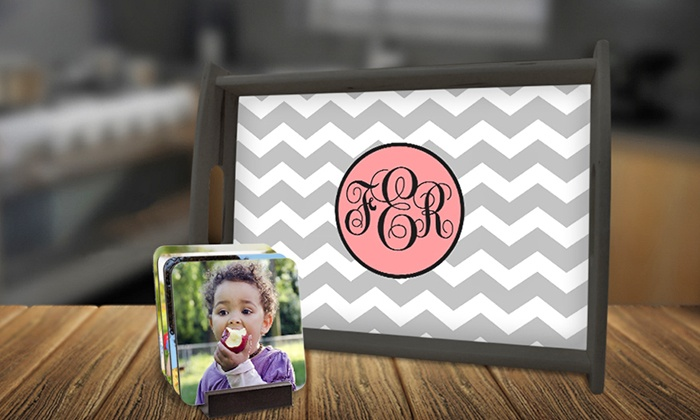 Picture it on Canvas: Personalized Coasters and Trays from Picture it on Canvas (Up to 69% Off). Two Options Available.