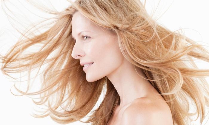 Samina Salon & Spa - Samina Salon and Spa: A Haircut and Keratin Treatment from Samina Salon & Spa (55% Off)