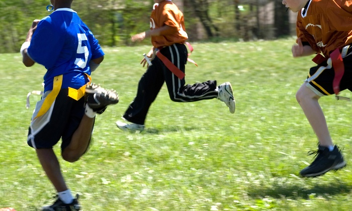 Bay Area Youth Sports - Multiple Locations: Kids' NFL or Ultimate Flag Football League from Bay Area Youth Sports (Up to 51% Off). Five Options Available.