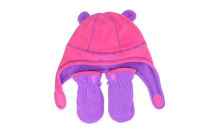 Rugged Bear Fleece Hat and Mitten Set for Infants or Toddlers. Multiple Styles Available.