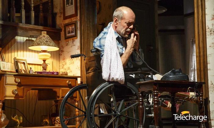 """""""Misery"""" Starring Bruce Willis & Laurie Metcalf - Broadhurst Theatre: Final Weeks: """"Misery"""" Starring Bruce Willis and Laurie Metcalf (January 17—February 11)"""