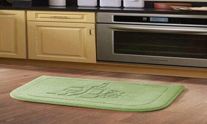 Delightful Memory Foam Anti Fatigue Microfiber Kitchen Mat: Memory Foam Anti Fatigue  Microfiber Kitchen ...
