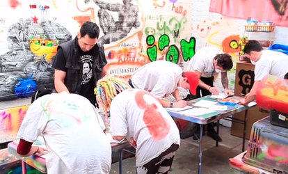 image for Gift Voucher for a Two-Hour Graffiti Class Plus Canvas for One or Two at The Graffiti Workshop (Up to 63% Off)