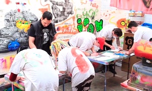 Graffik Gallery: Gift Voucher for a Two-Hour Graffiti Class Plus Canvas for One or Two at The Graffiti Workshop (Up to 63% Off)