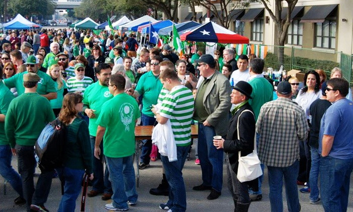 Houston St. Patrick's Parade - Downtown: Tickets for 2 or 4 to the 2015 Rory Miggins Memorial Irish Stew Cook-off and Music Festival (Up to 50% Off)