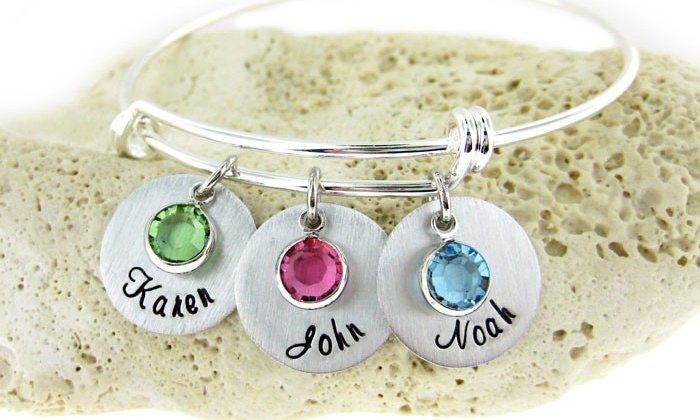 Up To 50 Off A Custom Mother S Birthstone Charm Bracelet