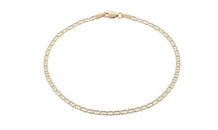 Solid 14K Gold Marina Chain Anklet