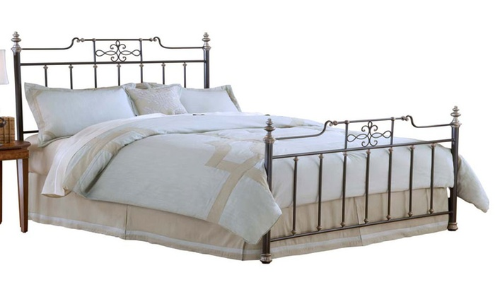 Brescello metal bed groupon goods for Beds groupon