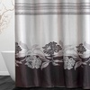 Mildew-Resistant Fabric Shower Curtain with 12 Matching Hooks