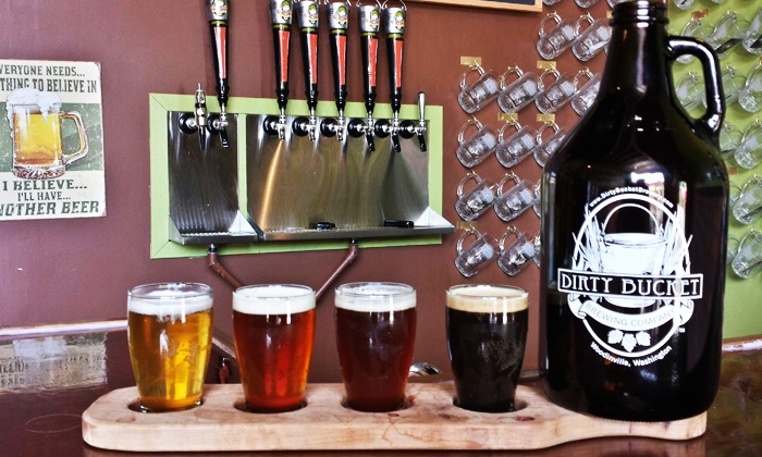 Dirty Bucket Brewing Co. - North Industrial: Beer Tastings for Two with a Growler and a Growler Fill at Dirty Bucket Brewing Co. (Up to 26% Off)