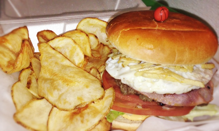 Sports Burger - Mount Pleasant - Lower Broadway: Burger Meals for Two or Four at Sports Burger (Up to 52% Off). Three Options Available.