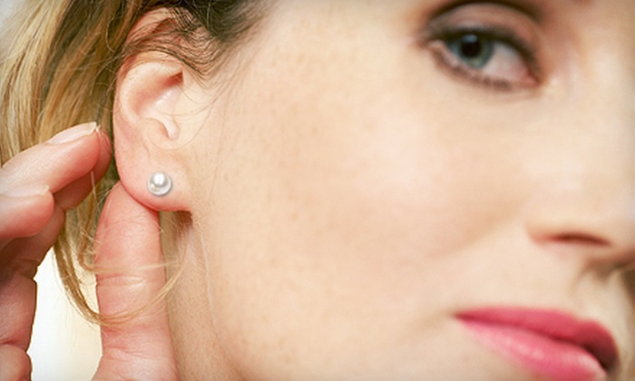 Azzi Jewelers - Lansing Charter Township: $175 for White-Gold-and-Pearl Stud Earrings at Azzi Jewelers ($350 Value)