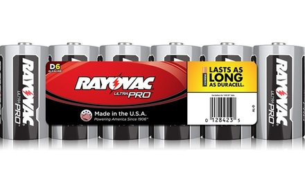 Rayovac D Batteries (6-Pack)
