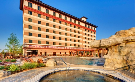 groupon daily deal - 1-Night Stay for Two with up to $250 Slot credit, depending on option, at Indigo Sky Casino & Hotel near Seneca, MO