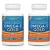 Triple Strength Omega-3 Gold Fish Oil Supplement - 1000 EPA + DHA