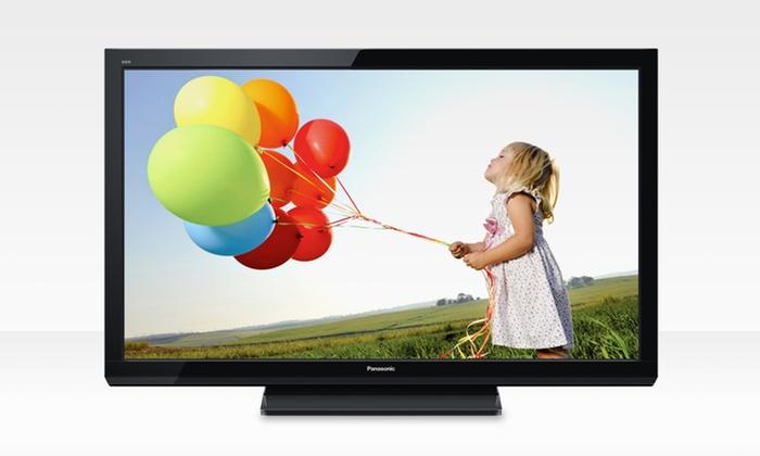 "42"" Panasonic Viera TC-P42X5 720p Plasma TV: $349.99 for a Panasonic Viera TC-P42X5 42"" 720p Plasma TV (Refurbished) (399.99 List Price). Free Shipping and Returns."