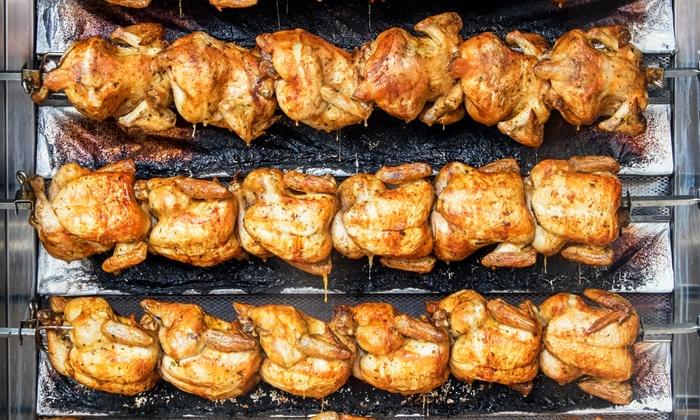 Super Chicken - Manassas: $12 for $20 Worth of Peruvian Char Broiled Rotisserie Chicken at Super Chicken