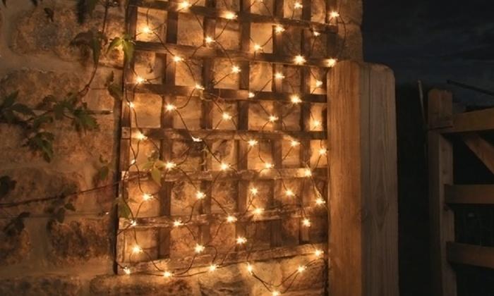 100 led solar net mesh fairy lights 2pack 100 led solar